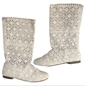 Boho crocheted boots size 38